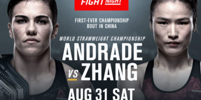 UFC Fight Night Andrade vs Zhang