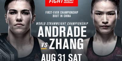 UFC Fight Night Andrade vs Zhang