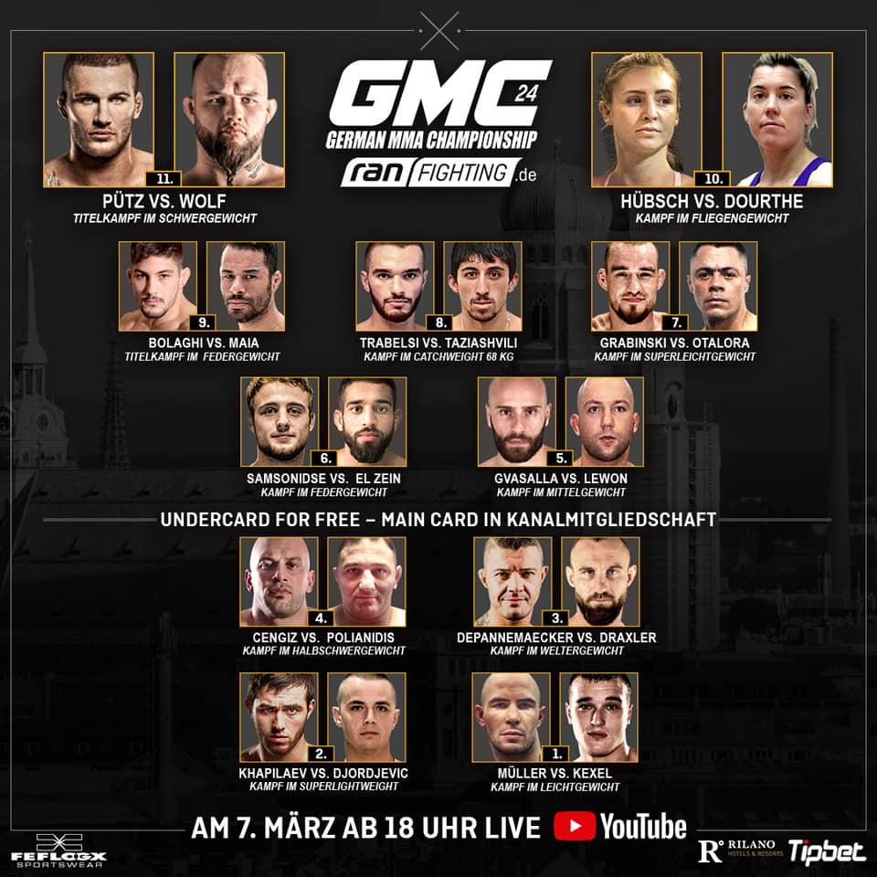 GMC 24 Fightcard