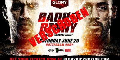 Glory - Badr vs Benny verschoben
