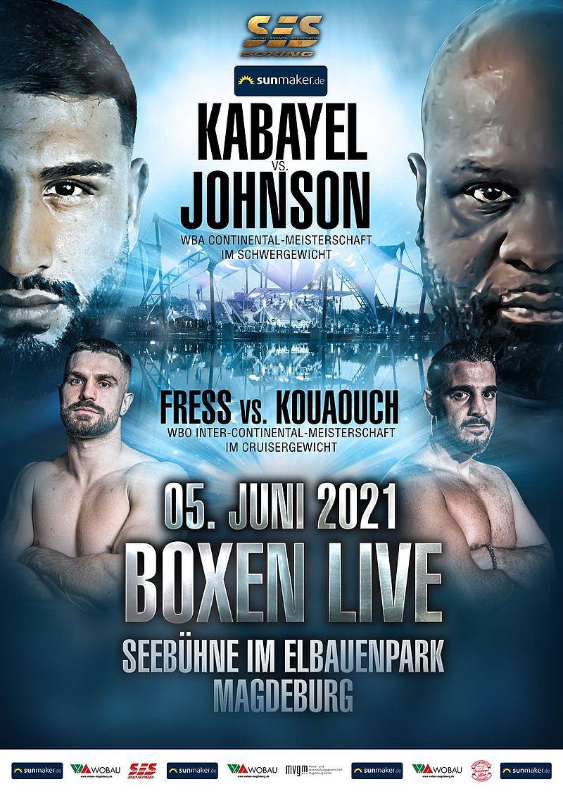 Kabayel vs Johnson Poster