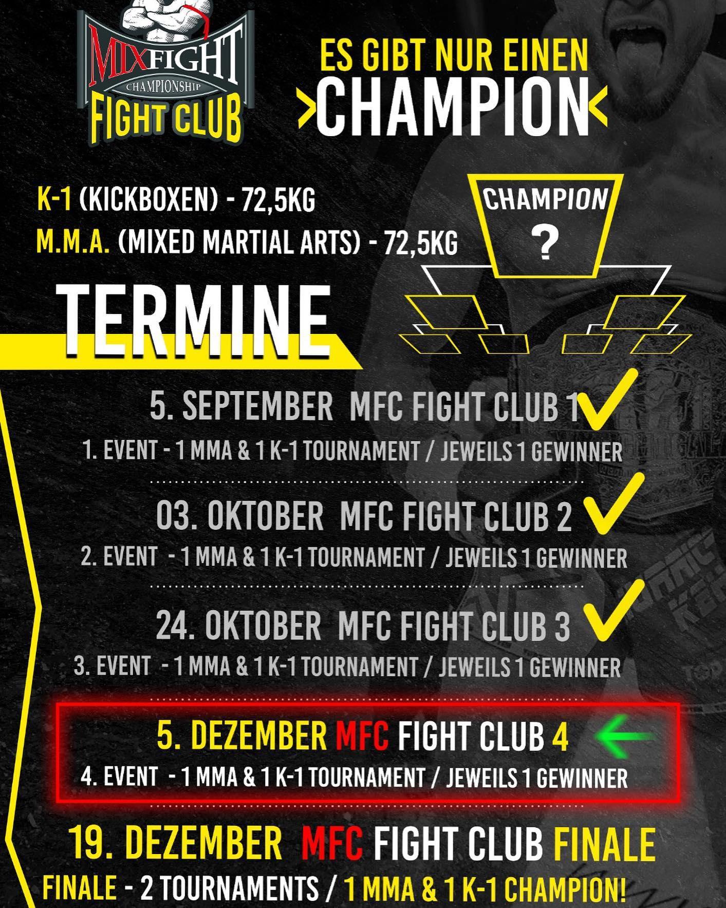 Mix Fight Club - Übersicht