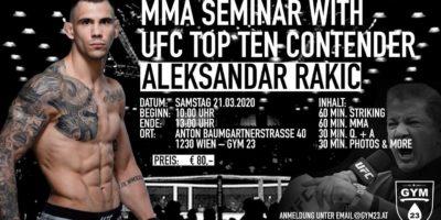 MMA Seminar mit Aleksandar Rakic