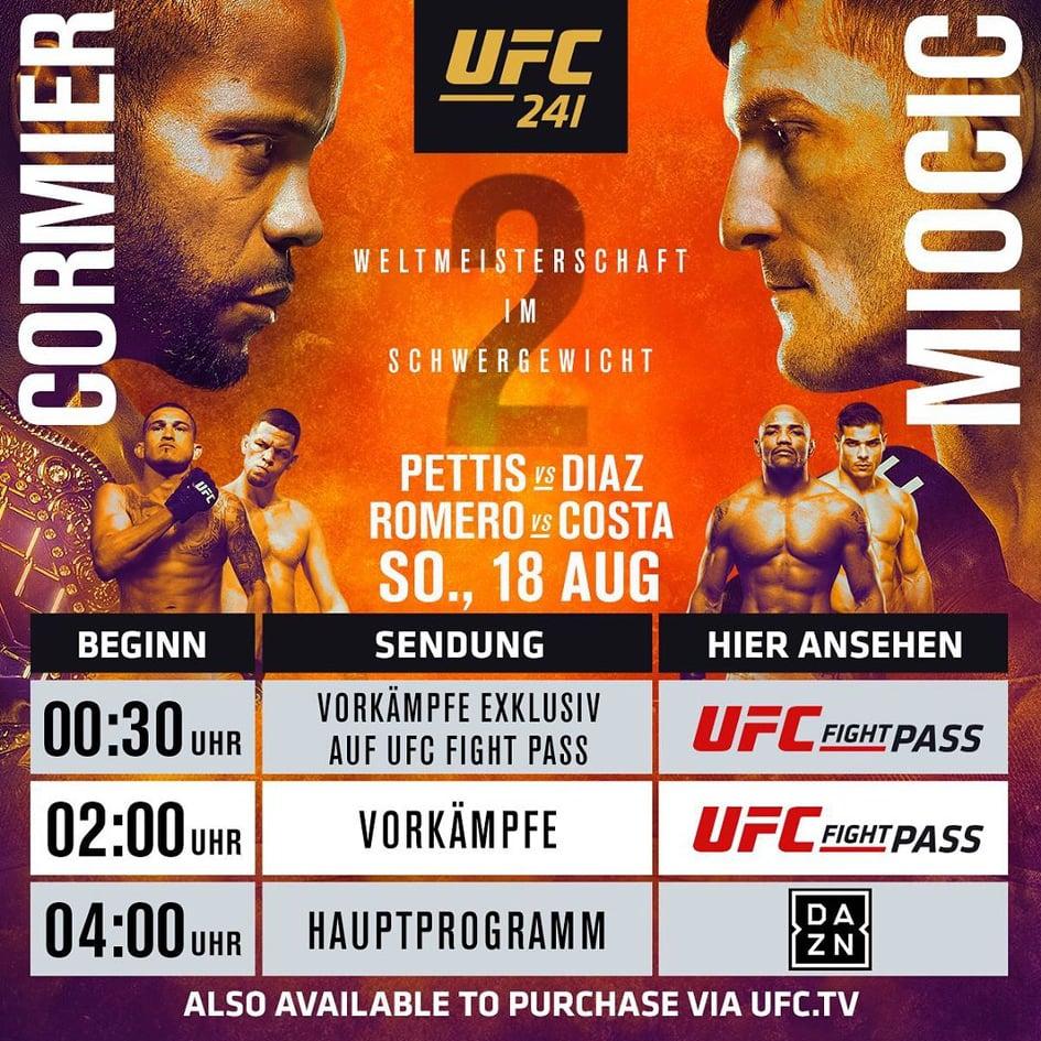 UFC 241 - Cormier vs Miocic 2 DAZN