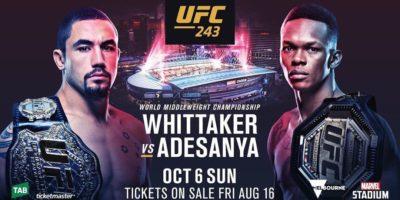 UFC 243 - Whittaker vs Adesanya