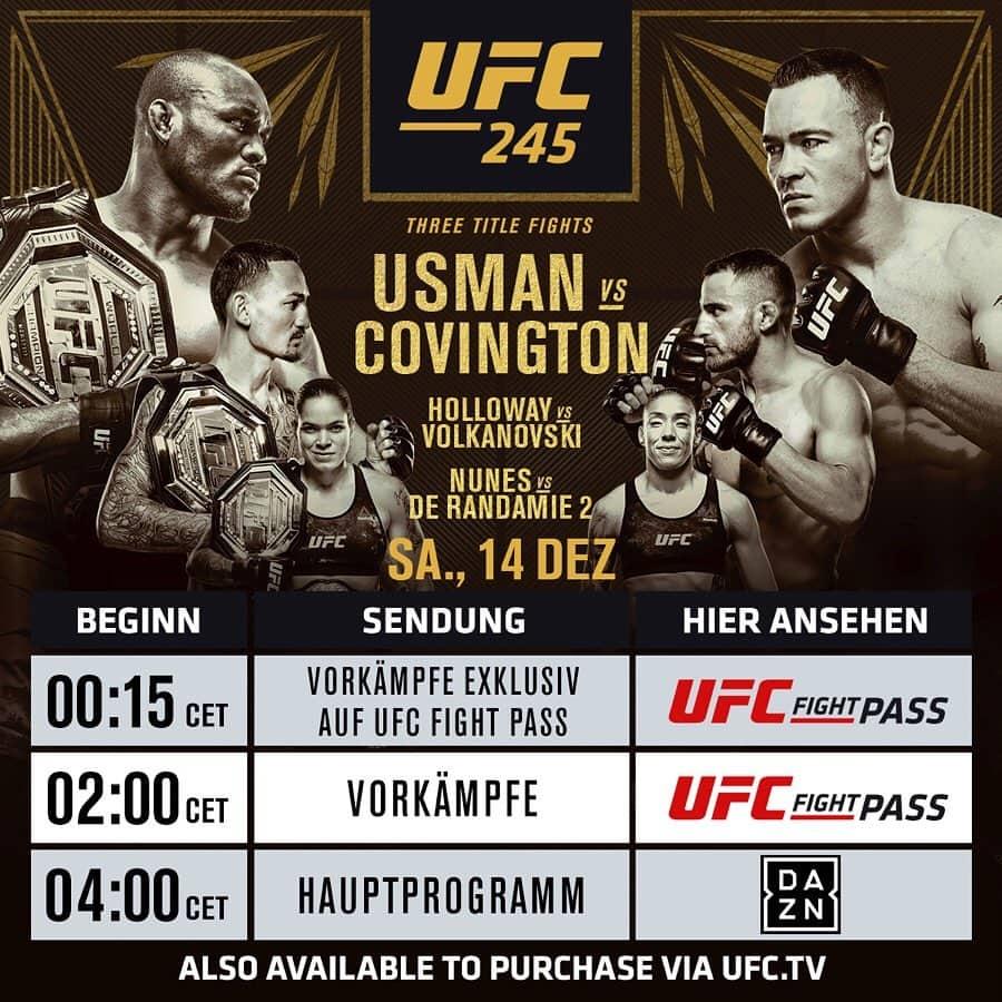 UFC 245 Las Vegas