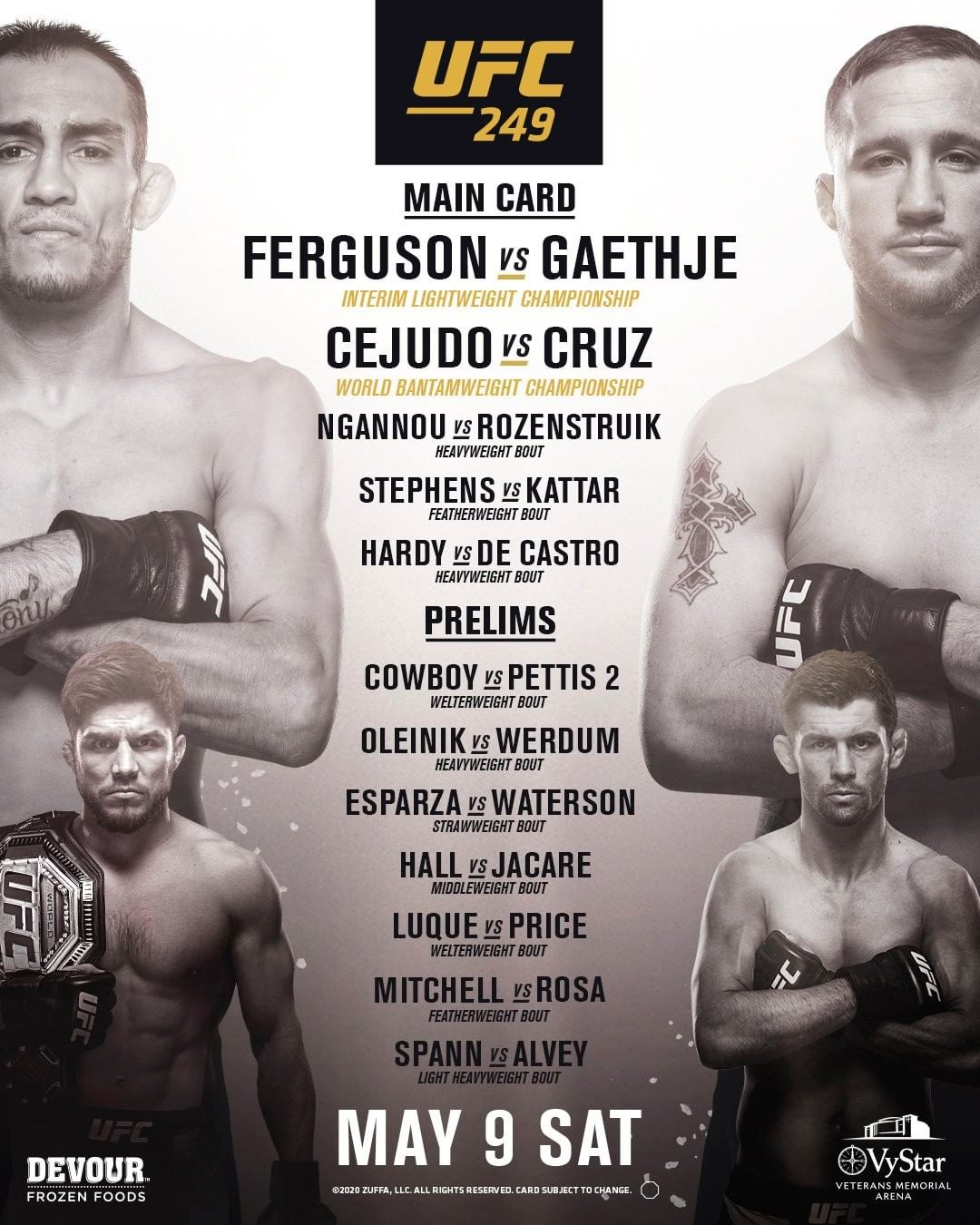 UFC 249 Kampfpaarungen