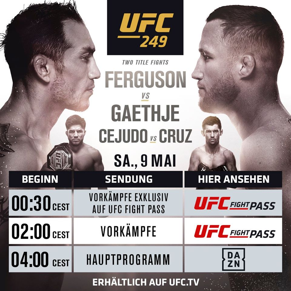 UFC 249 DAZN