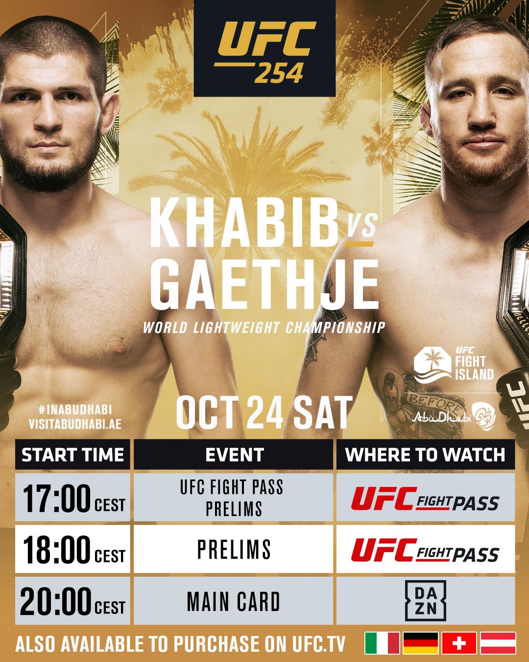 Khabib vs Gaethje Livestream