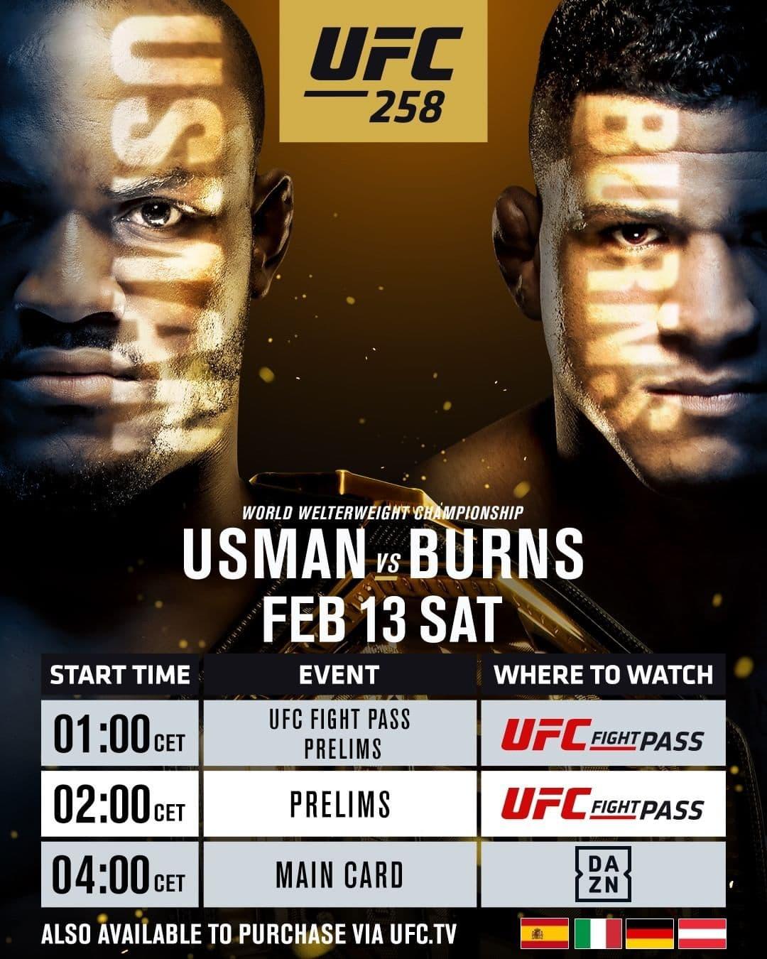 UFC 258 - Usman vs Burns
