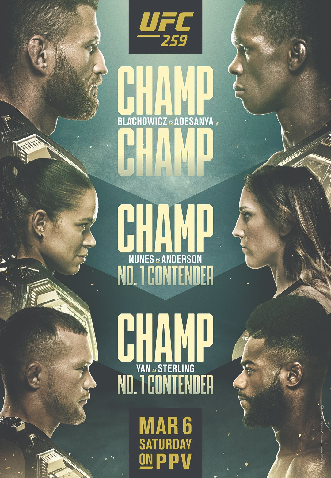 UFC 259 - Blachowicz vs Adesanya