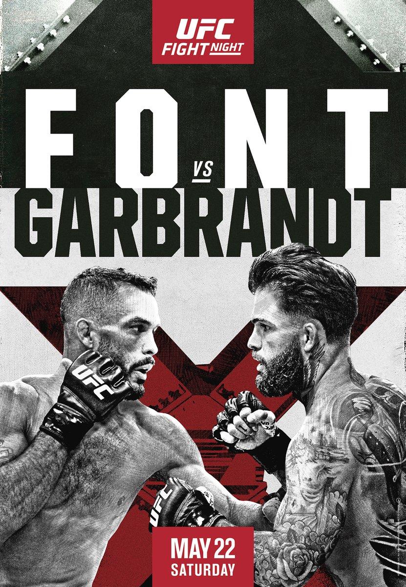 Font vs Garbrandt Poster