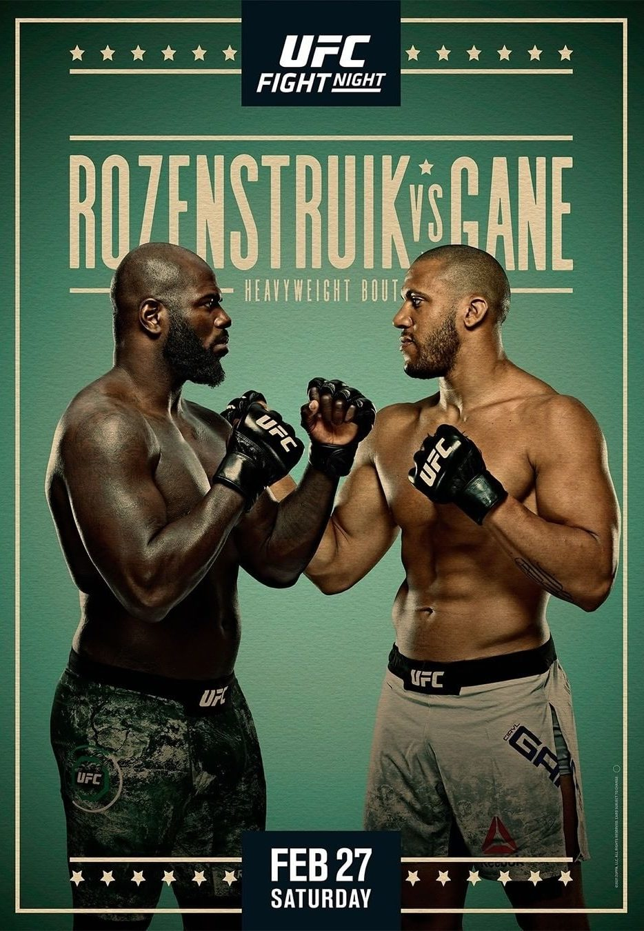 UFC Fight Night - Rozenstruik vs Gane
