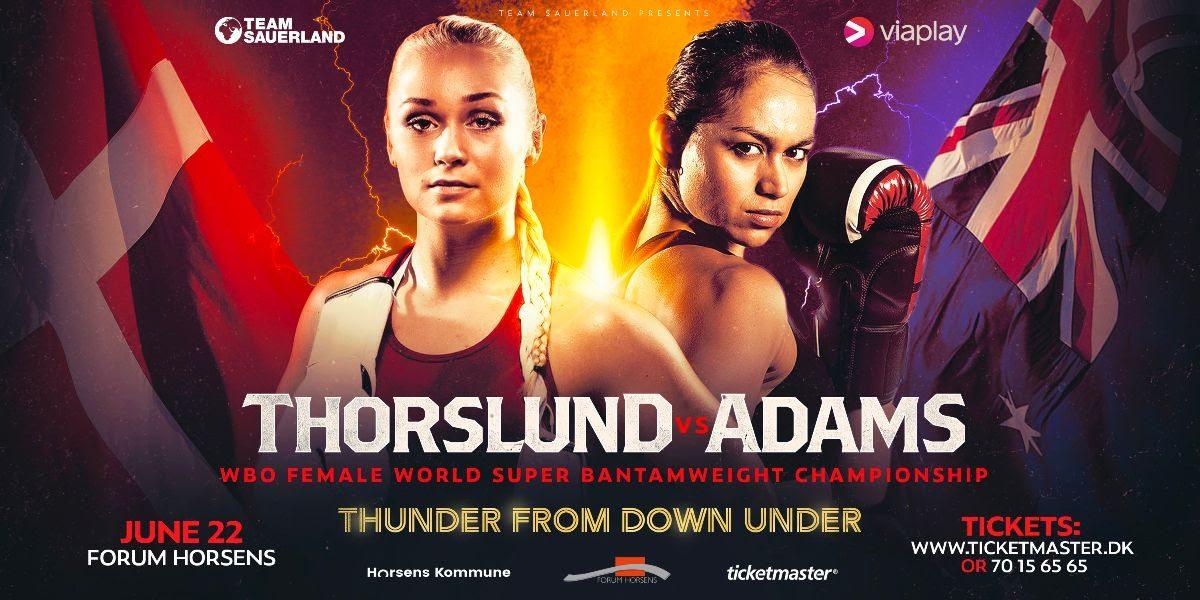 WBO-WM - Dina Thorslund vs April Adams